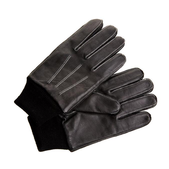 Skórzane męskie rękawiczki w upominkowym pudełku bata, czarny, 904-6120 - 13