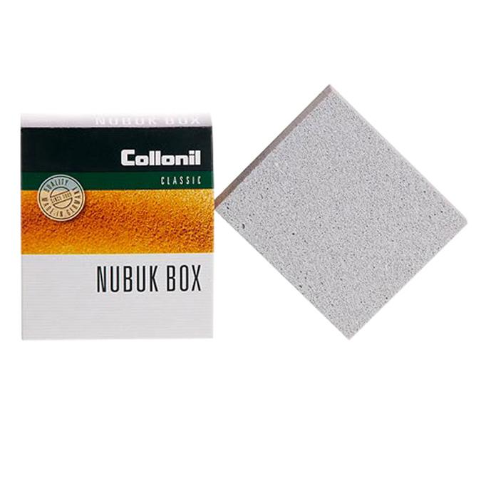 Gumowa kostka czyszcząca z warstwą z krepy do skór zamszowych i nubuku collonil, czarny, 902-6038 - 13
