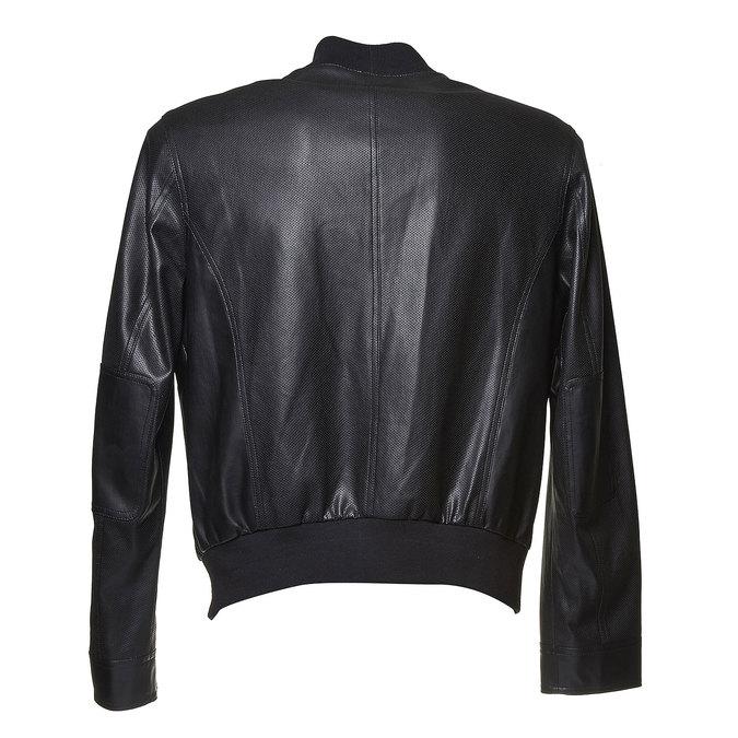 Męska kurtka z perforacją bata, czarny, 971-6173 - 26