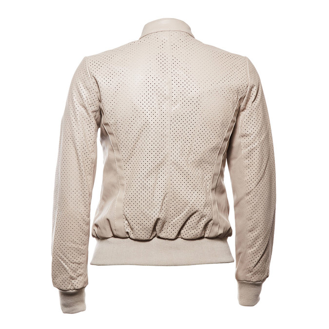 Damska kurtka z perforacją bata, beżowy, 971-5172 - 26