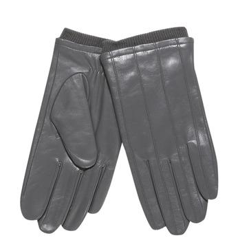 Męskie skórzane rękawiczki ze ściągaczem bata, szary, 904-2117 - 13