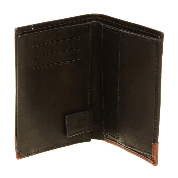 Męski skórzany portfel bata, czarny, 944-6150 - 16