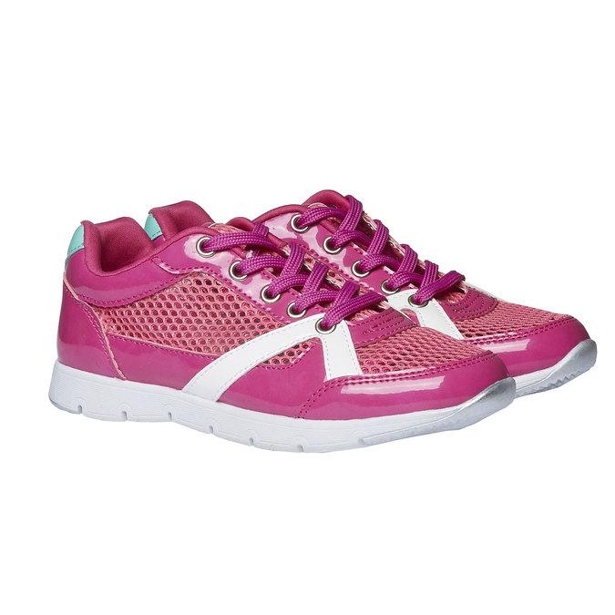 Dziewczęce buty sportowe mini-b, różowy, 329-5175 - 26