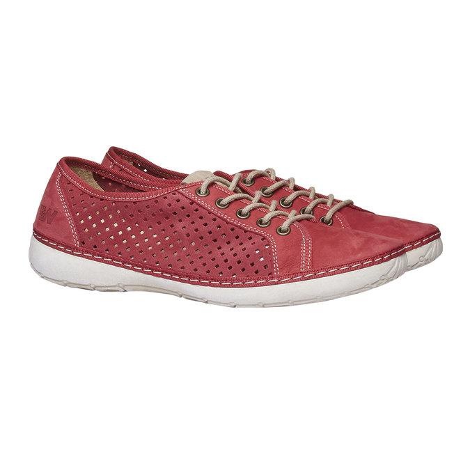 Skórzane buty sportowe weinbrenner, czerwony, 546-5238 - 26