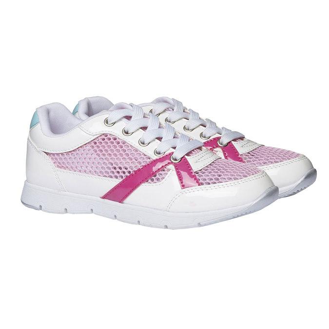 Dziewczęce buty sportowe mini-b, biały, 329-1175 - 26