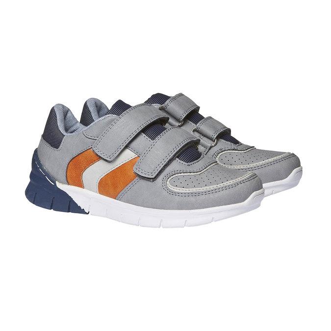 Dziecięce buty sportowe na rzepy mini-b, szary, 311-2190 - 26