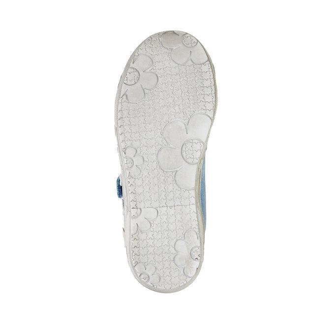 Dziewczęce buty sportowe na rzepy mini-b, niebieski, 221-9161 - 26