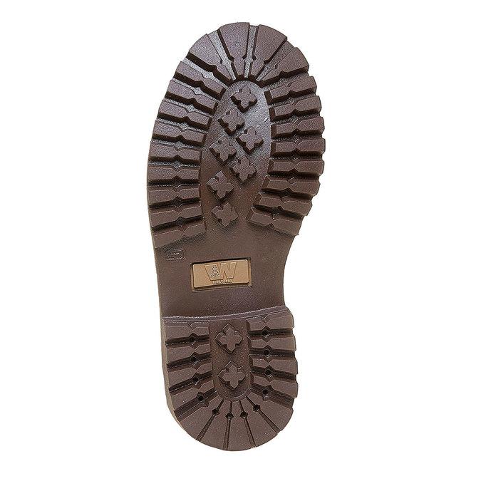 Skórzane buty dziecięce na grubej podeszwie weinbrenner-junior, brązowy, 396-8182 - 26