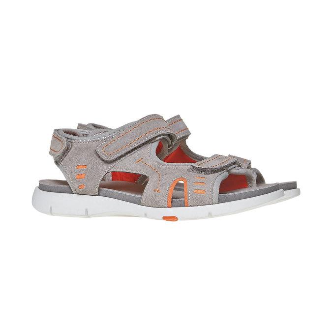 Sandały dziecięce flexible, szary, 363-2188 - 26