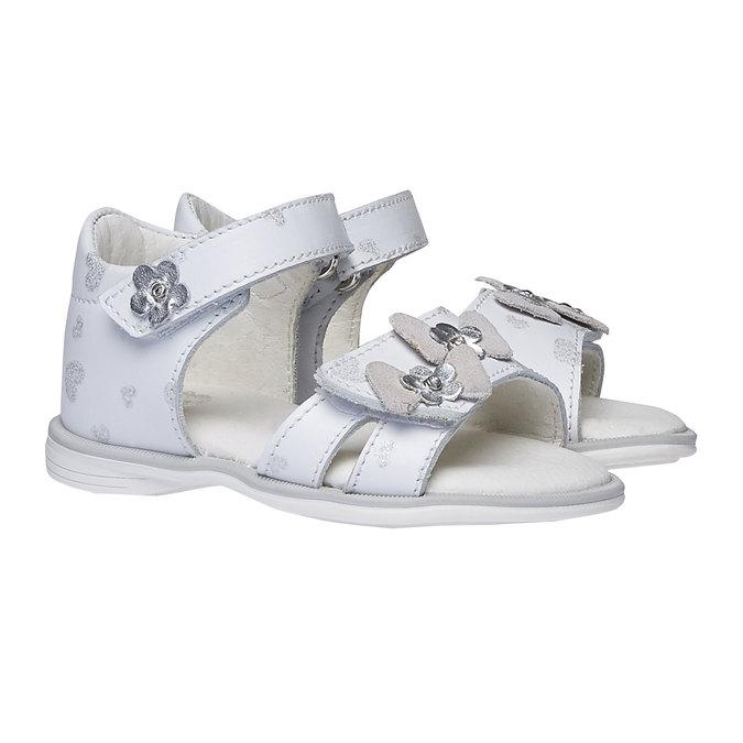 Białe sandały dziecięce bubblegummer, biały, 164-1129 - 26