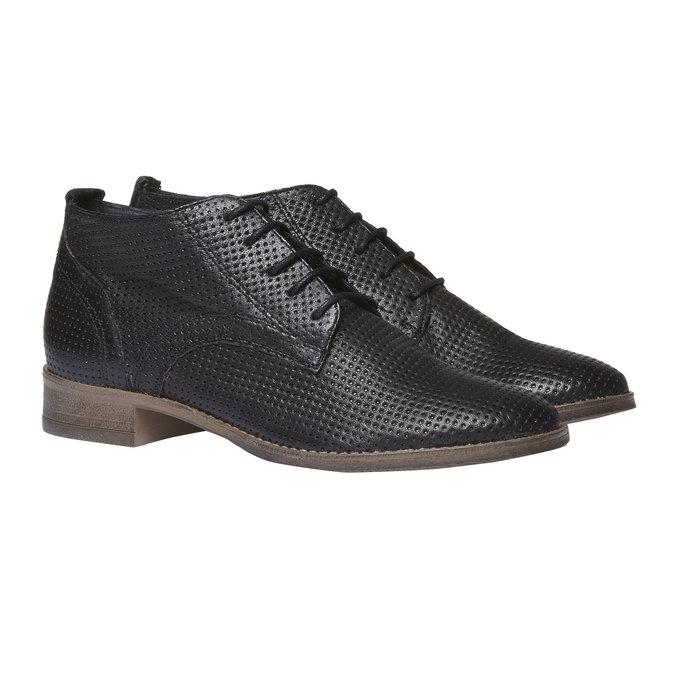 Damskie skórzane botki bata, czarny, 524-6468 - 26