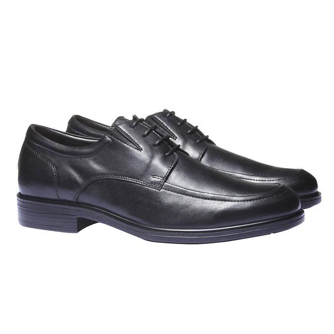 Skórzane męskie półbuty bata-comfit, czarny, 824-6933 - 26