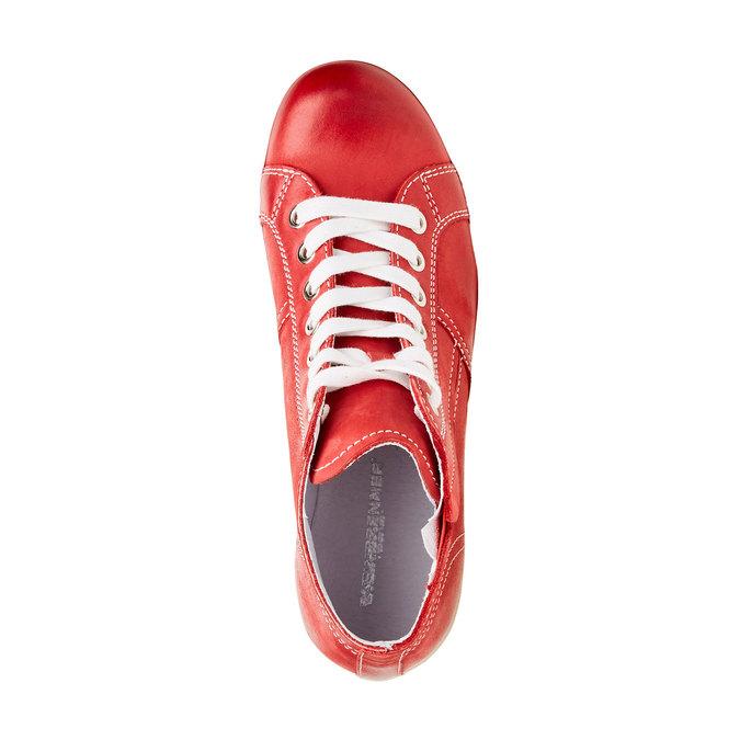 Skórzane buty sportowe do kostki bata, czerwony, 524-5310 - 19