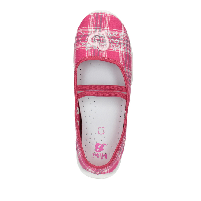 Domowe buty dziecięce mini-b, różowy, 379-5207 - 19