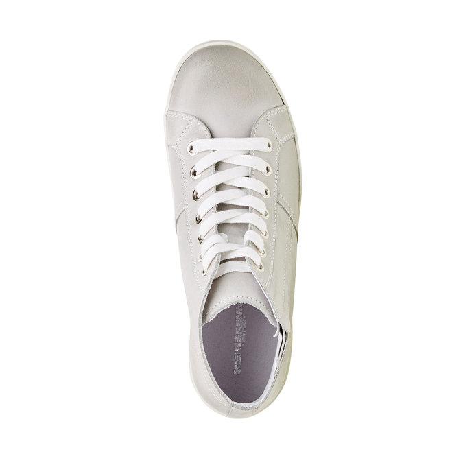 Skórzane buty sportowe do kostki bata, biały, 524-1310 - 19