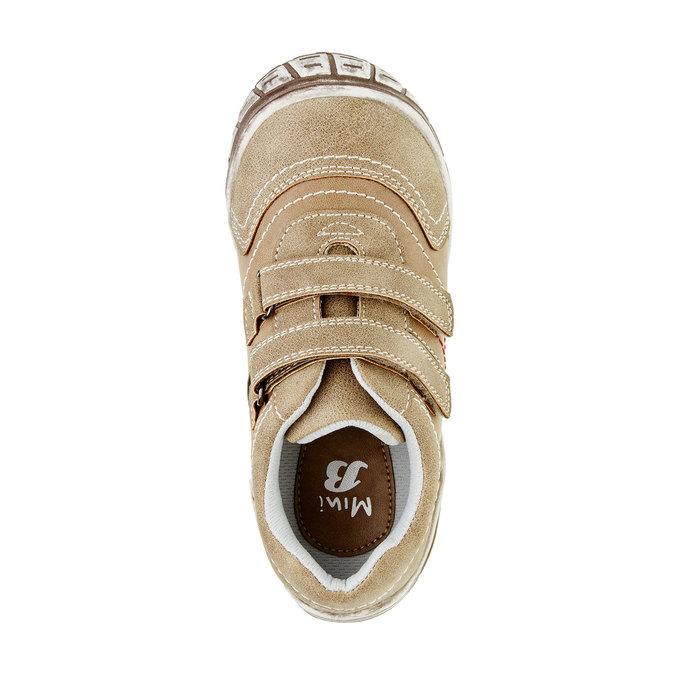 Dziecięce buty sportowe na rzep w codziennym stylu mini-b, brązowy, 311-3212 - 19