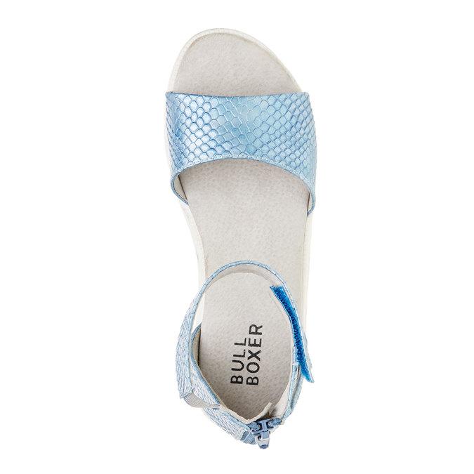 Sandały z paskiem wokół kostki bull-boxer, niebieski, 421-9002 - 19