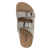 Damskie skórzane pantofle de-fonseca, beżowy, 573-8620 - 19