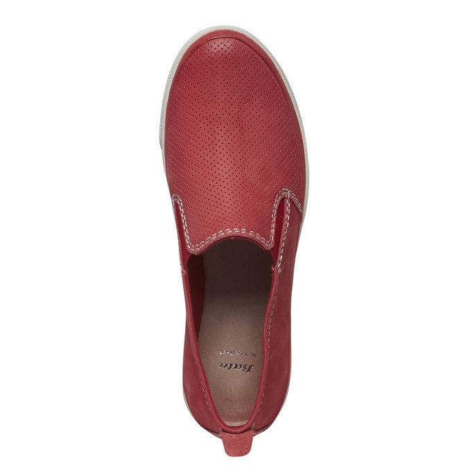 Skórzane buty Plim Soll z perforacją bata, czerwony, 514-5197 - 19