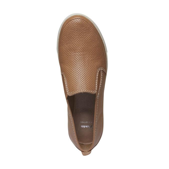 Skórzane buty Plim Soll z perforacją bata, brązowy, 514-3197 - 19