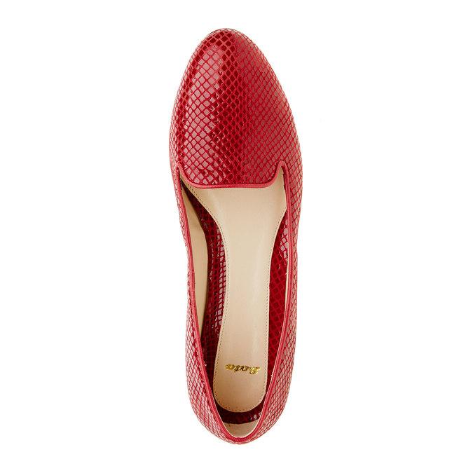 Czerwone skórzane mokasyny bata, czerwony, 524-5412 - 19