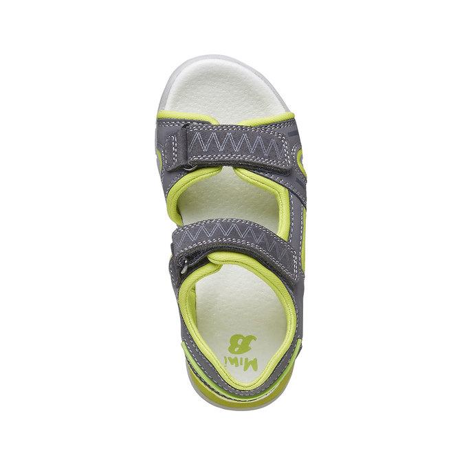 Dziecięce sandały ze skórzanymi paskami mini-b, szary, 264-2166 - 19