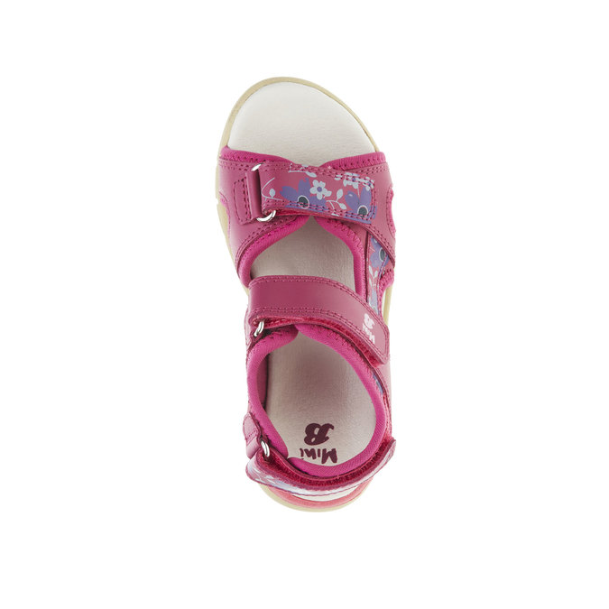 Skórzane dziewczęce sandały mini-b, różowy, 369-5500 - 19