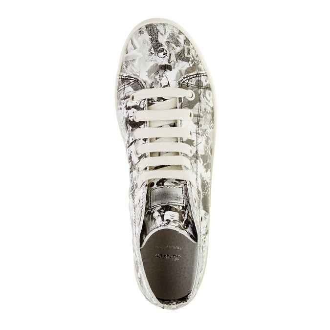 Skórzane buty sportowe do kostki bata, biały, 526-1130 - 19