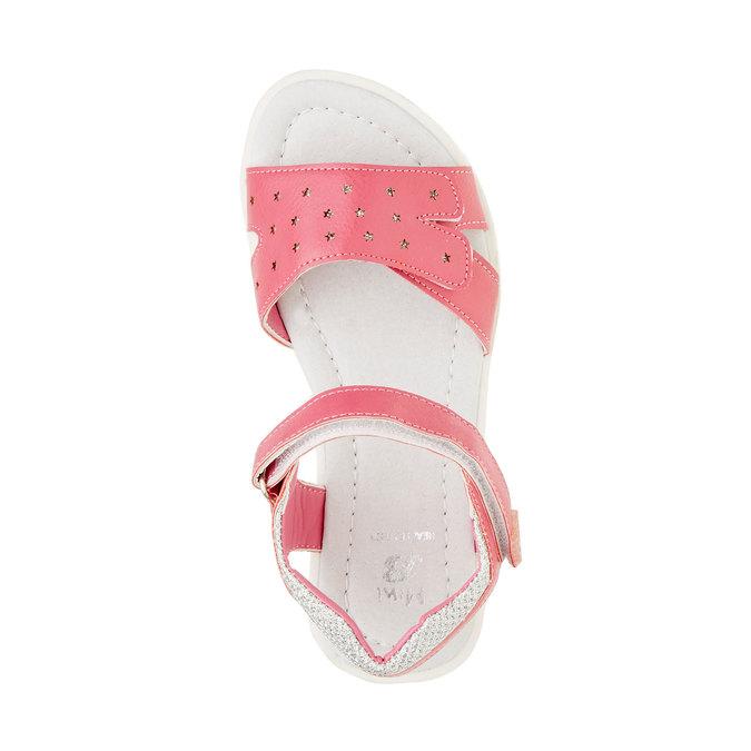 Dziewczęce sandały na rzepy mini-b, różowy, 361-5180 - 19