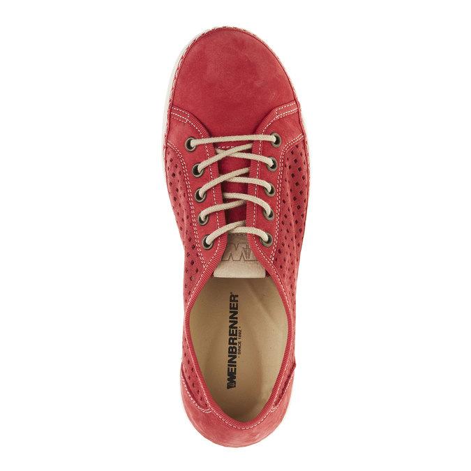 Skórzane buty sportowe weinbrenner, czerwony, 546-5238 - 19