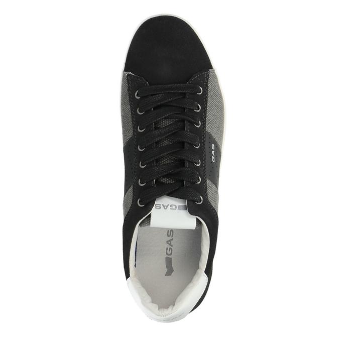 Męskie buty sportowe w codziennym stylu gas, czarny, 843-6619 - 19