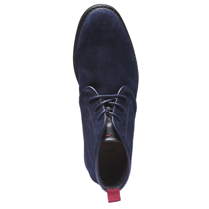 Skórzane buty Chukka bata, niebieski, 893-9245 - 19