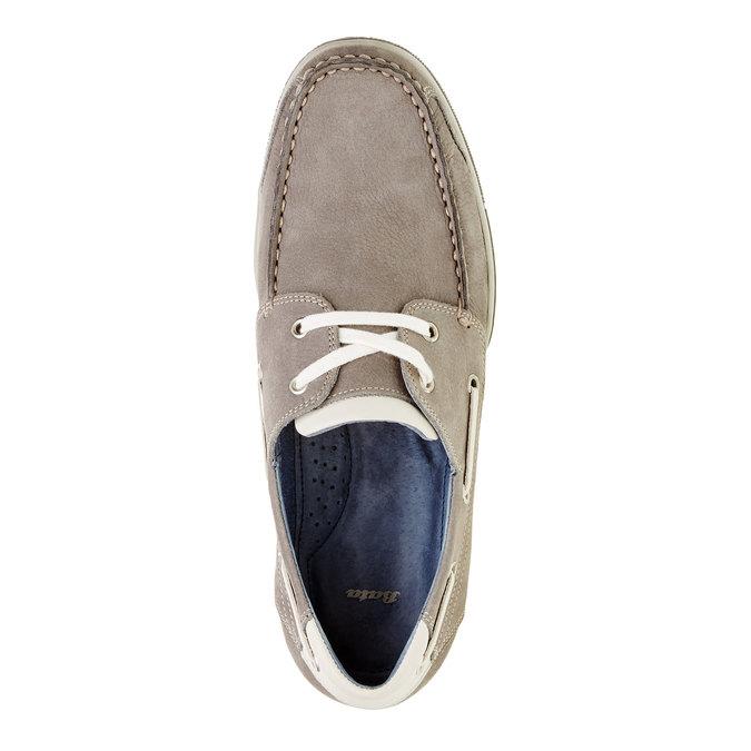 Skórzane mokasyny w codziennym stylu bata, szary, 856-2176 - 19