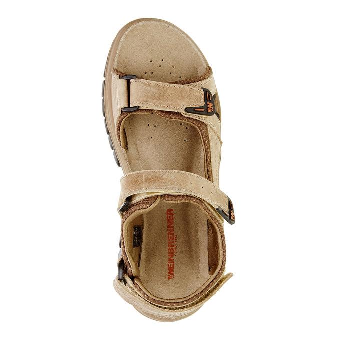 Męskie skórzane sandały weinbrenner, brązowy, 866-3107 - 19