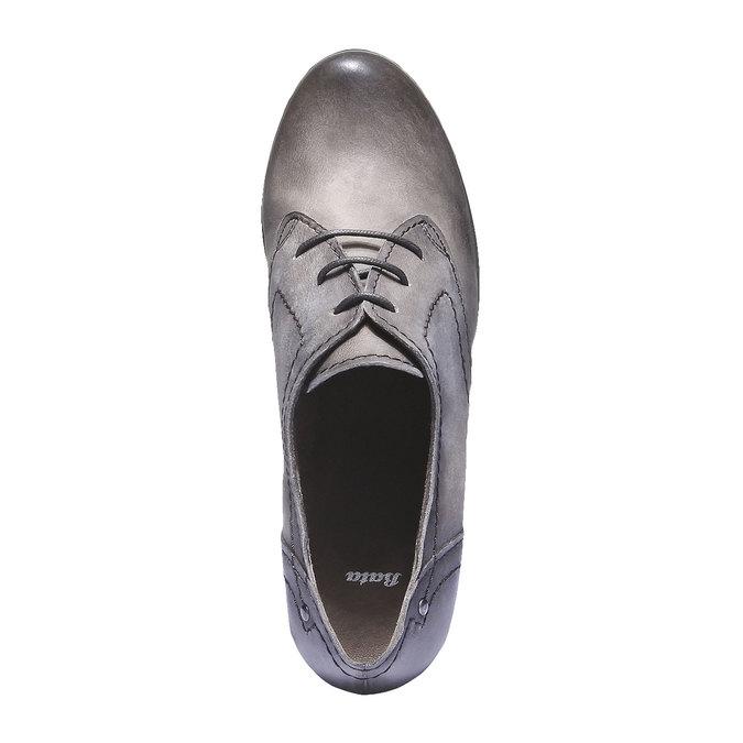 Skórzane botki bata, szary, 626-2100 - 19