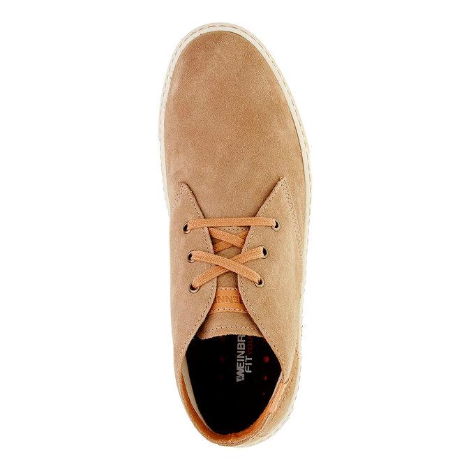 Męskie skórzane buty weinbrenner, brązowy, 843-8661 - 19