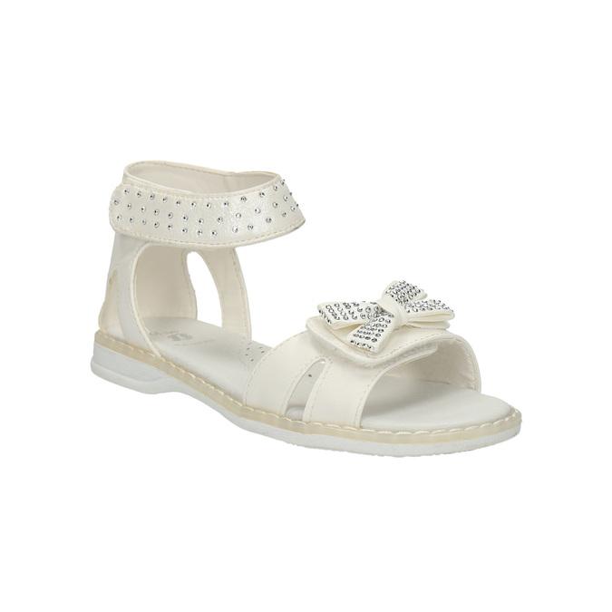 Dziewczęce sandały z kryształkami mini-b, biały, 261-1160 - 13