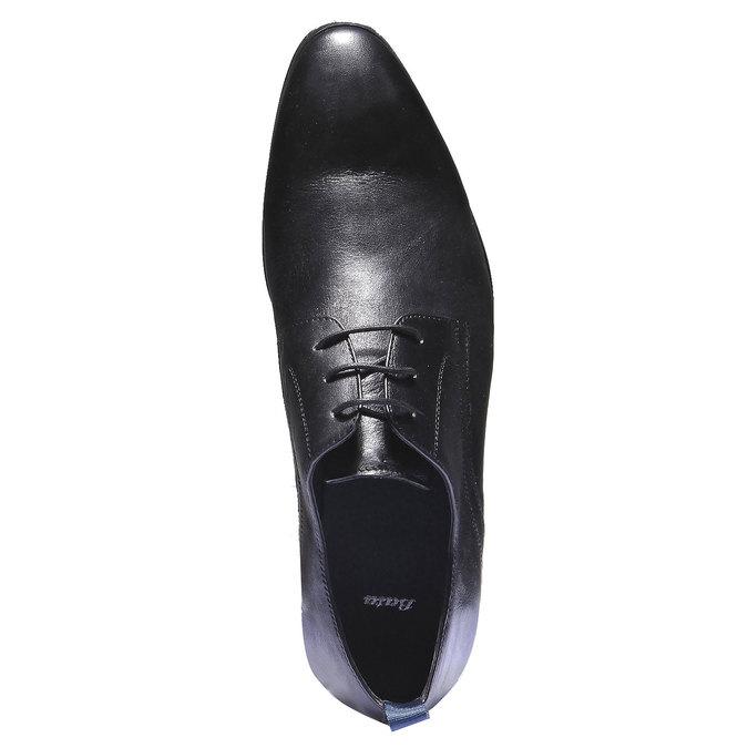 Skórzane półbuty w stylu Derby bata, czarny, 824-6673 - 19