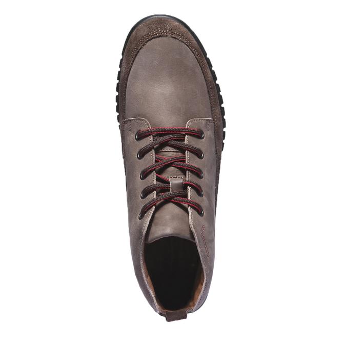 Skórzane buty sportowe na co dzień bata, brązowy, 896-4195 - 19