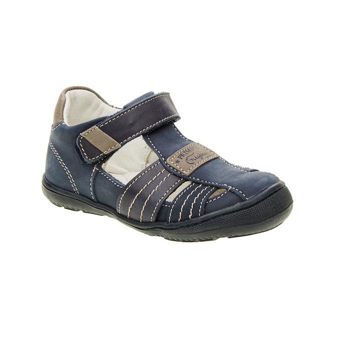 Dziecięce skórzane sandały primigi, niebieski, 113-9009 - 13