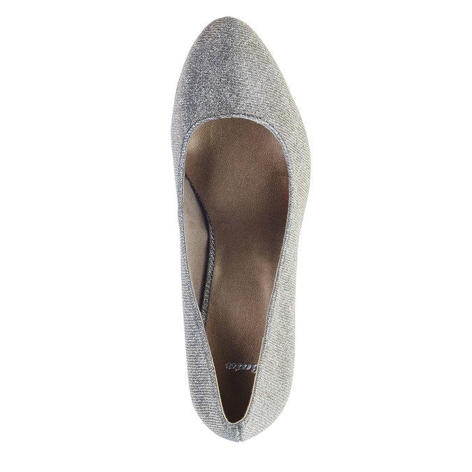 Czółenka na koturnie bata, srebrny, 721-1101 - 19