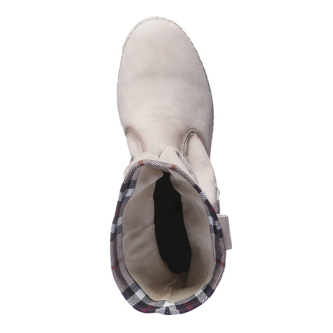 Skórzane buty z kolorową lamówką weinbrenner, 596-8311 - 19