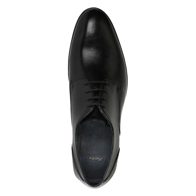 Półbuty męskie ze skóry bata, czarny, 824-6705 - 19