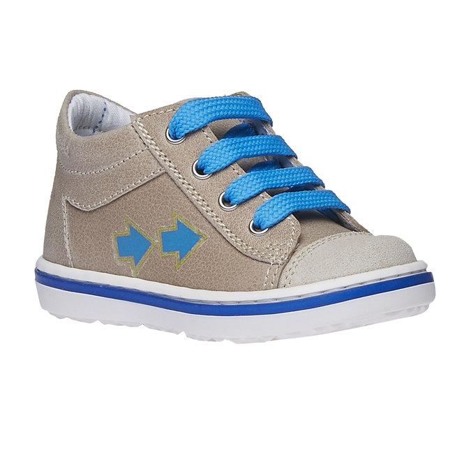 Dziecięce skórzane buty sportowe bubblegummer, brązowy, 114-3146 - 13