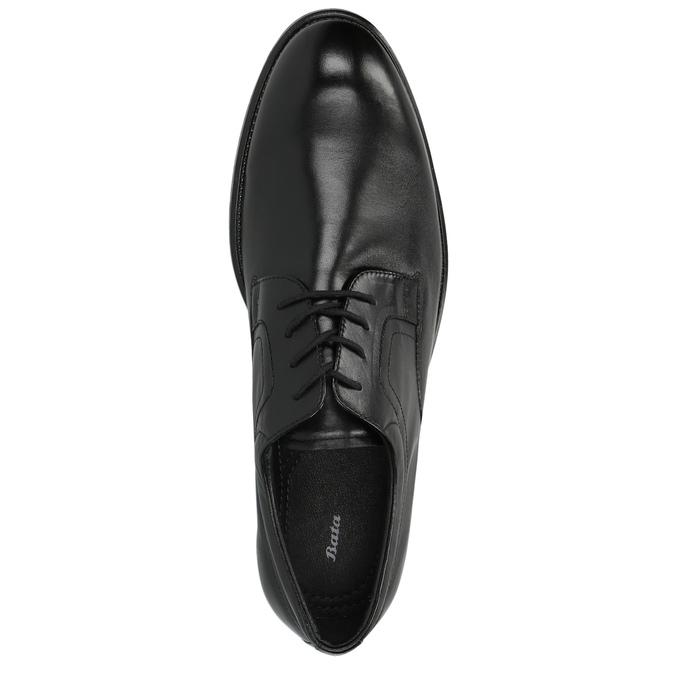 Skórzane półbuty z zaokrąglonym noskiem bata, czarny, 824-6657 - 19