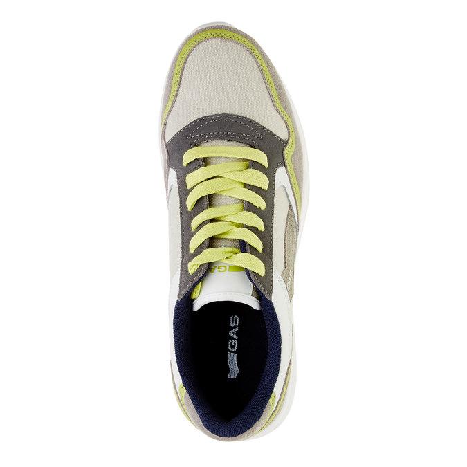 Męskie skórzane buty sportowe gas, beżowy, żółty, 843-8606 - 19