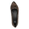 Skórzane czółenka na koturnie bata, brązowy, 626-4603 - 19
