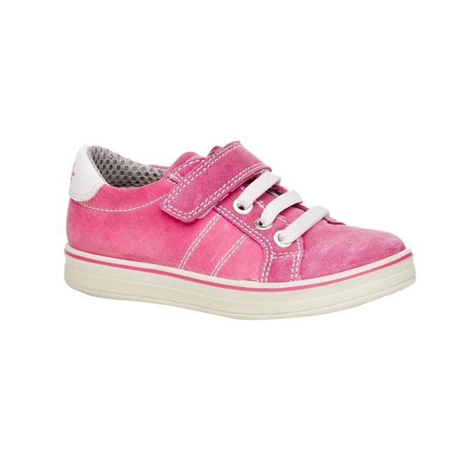 Dziecięce skórzane buty sportowe mini-b, różowy, 223-5120 - 13