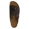 Skórzane klapki z korkową podeszwą birkenstock, brązowy, 866-4007 - 19