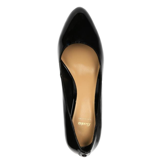 Czółenka damskie lakierowane bata, czarny, 721-6603 - 19